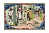 Call to Arms-American Revolution Postcard Giclee Print