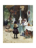 A Young Girl in the Jardins Des Champs Elysees Giclee Print by Victor Gilbert