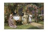The Tea Party Reproduction procédé giclée par George Sheridan Knowles