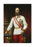 Kaiser Franz Josef I of Austria in Uniform Giclee Print by Carl Von Blaas