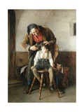 The Village Barber Giclee Print by Nicolaos Gysis
