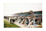 Paris, the Races at Longchamp Giclee Print by Ludovico Marchetti