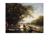 Boating Party on the Thames Giclee Print by Ferdinand Heilbuth