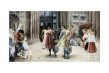Matadors Entering Church Giclee Print by Jose Gallegos Y Arnosa