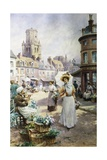 The Flower Market Giclee Print by Alfred Augustus Glendening II