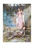 La bella dama sin piedad Lámina giclée por Henry Meynell Rheam
