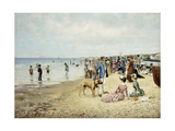 A Day at the Beach Giclee Print by Owen Dalziel