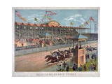 Brighton Beach Race Course Giclee Print