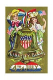 1776 Liberty Bell - 4th of July Postcard Giclee Print