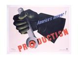Production - America's Answer! Poster Gicléedruk van Jean Carlu