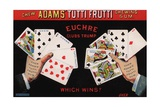 Adams' Tutti Frutti Chewing Gum Trade Card Giclee Print