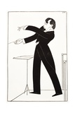 Caricature of Conductor Serge Koussevitzky Giclee Print