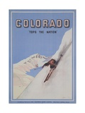 Colorado Tops the Nation Travel Poster Giclee Print