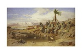 Temple of Karnak at Luxor, Egypt Giclee Print by Carl Friedrich Werner