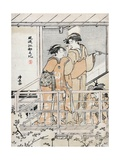 Viewing Cherry Blossoms Giclee Print by Torii Kiyonaga