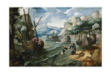Christ with Saint Peter and the Disciples on the Sea of Galilee Giclee Print by Lucas Gassel