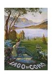 Lago Di Como Poster Wydruk giclee autor Elio Ximenes