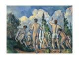 Baigneurs (Bathers) Giclee Print by Paul Cézanne
