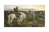 A Knight at the Crossroads (A Vityaz at a Fork in the Road) Giclee Print by Viktor Vasnetsov