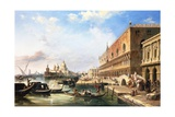 On the Grand Canal, Venice, Italy Giclee Print by Edward Pritchett