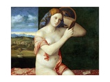 Young Woman at Her Toilette Giclee Print by Giovanni Bellini