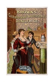 Brown's Camphorated Saponaceous Dentifrice Trade Card Giclee Print