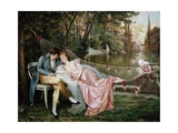 A Secret Liaison Giclee Print by Joseph Frederic Charles Soulacroix