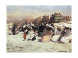 On the Sands by Emile Hoeterickx Giclee Print by Emile Hoeterickx