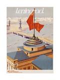 Leningrad Travel Poster Giclee Print by B. Zelensky