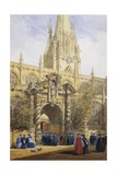 St. Mary's, Oxford University, England Giclee Print by Joseph Nash