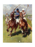 A Polo Match Giclee Print by Ludwig Koch