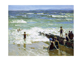 Bathers at Breakwater Giclee Print by Edward Henry Potthast