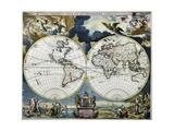 Orbis Terrarum Nova Et Accuritissima Tabula Giclee Print by Johanne A. Loon