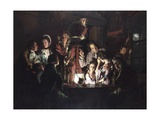 An Experiment on a Bird in an Air Pump Giclee Print by Joseph Wright