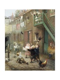 Children's Games with Bubbles Giclee Print by Albert Ludovici