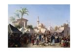 Rudolf von Alt - The Turkish Market - Giclee Baskı