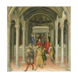 The Crippled and Sick Cured at the Tomb of Saint Nicholas Giclee Print by Gentile da Fabriano