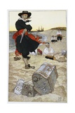 Buried Treasure Illustration Giclee Print by Howard Pyle
