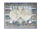 General Map of the Earth Giclee Print by Abbe Clouet