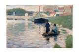 View of the Seine Giclee Print by Georges Seurat