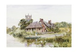 A Worcestershire Village Giclee Print by Henry John Yeend King