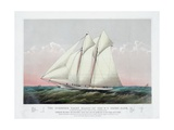 The Schooner Yacht Magic of the New York Yacht Club Giclee Print by  Currier & Ives