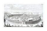 Engraving of Roman Boat Arena Giclee Print by Fischer von Erlach