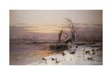 On the Estuary, Near Monmouth Giclee Print by Charles Brooke Branwhite