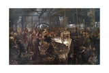 Iron Rolling Mill (Modern Cyclopes) Giclee Print by Adolph Menzel