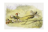 Cruel Elves Illustration Giclee Print by Richard Doyle