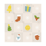 Christmas with Decorations Giclee Print