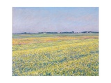 The Plain of Gennevilliers, Yellow Fields Giclee Print by Gustave Caillebotte