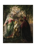 Dante and Beatrice Giclee Print by Carl Wilhelm Friederich Oesterly
