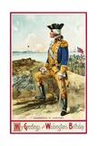 My Greetings on Washington's Birthday Postcard Giclee Print by Richard Veenfliet